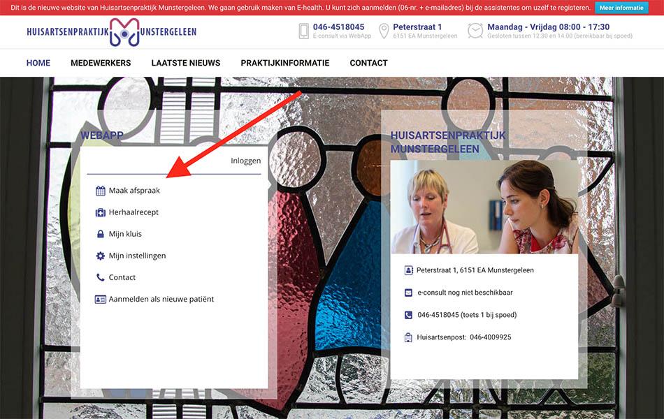 Website voor huisarts Munstergeleen
